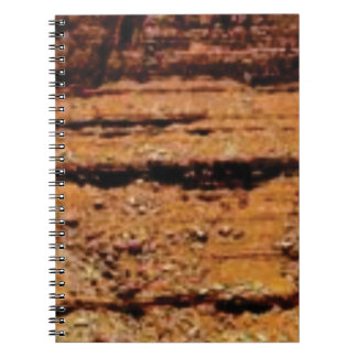 layered gravel wall notebook