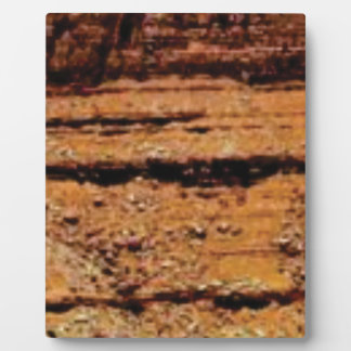 layered gravel wall plaque