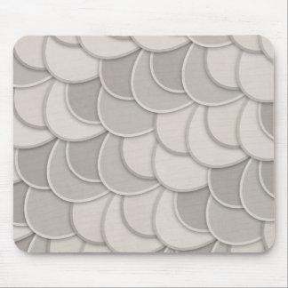 Layered Gray Circles Mousepads