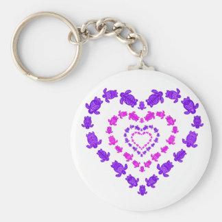 Layered Heart Keychain