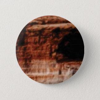layered red rock cliffs 2 inch round button