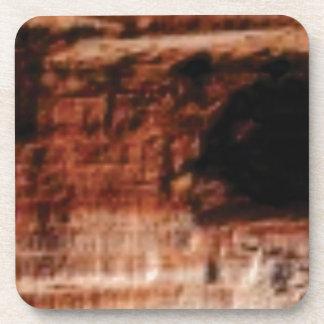 layered red rock cliffs coaster