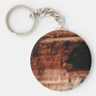 layered red rock cliffs keychain