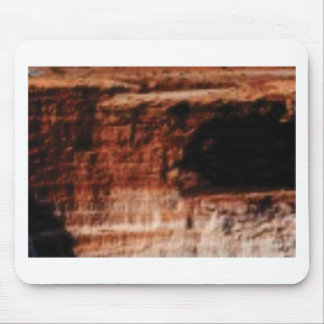 layered red rock cliffs mouse pad