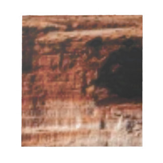 layered red rock cliffs notepad
