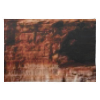 layered red rock cliffs placemat
