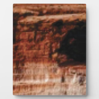 layered red rock cliffs plaque