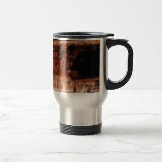 layered red rock cliffs travel mug