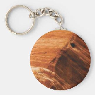 layered rock edge keychain