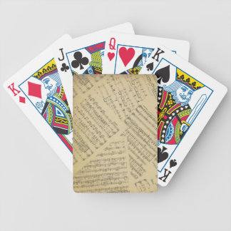 Layered Sheet Music Bicycle Playing Cards
