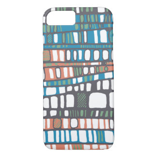 Layers in orange and blue iPhone 7 case