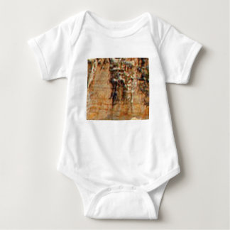 layers of cliff rocks baby bodysuit