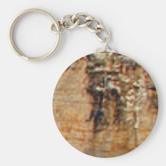 layers of cliff rocks keychain