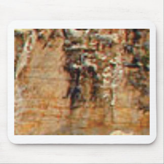 layers of cliff rocks mouse pad