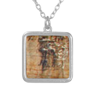layers of cliff rocks silver plated necklace