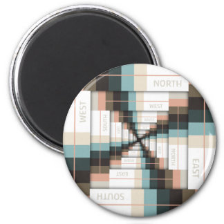 Layers of Directions 2 Inch Round Magnet