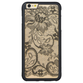 Layers Of Lace Carved Maple iPhone 6 Plus Bumper Case