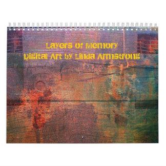 Layers of Memory Abstract Digital Art Calendar