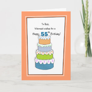 Layers Of Wishes 55th Or Any Age Birthday Card