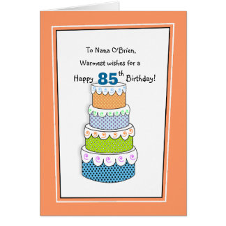 Layers of Wishes 85th or Any Age Birthday Card