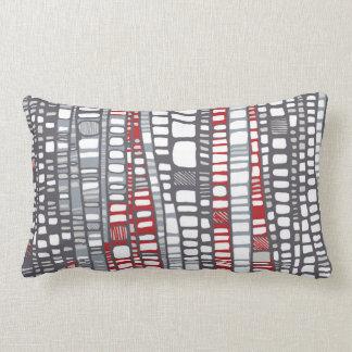 Layers red lumbar pillow