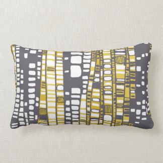 Layers yellow lumbar pillow