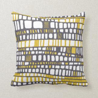Layers yellow throw pillow