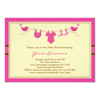 Layette Clothing Line Baby Shower Invitation