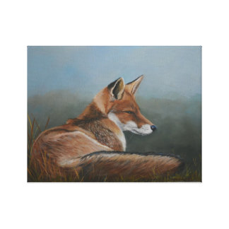 Laying Low Red Fox Animal Art Reproduction Print
