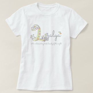 Layla girls name meaning L monogram hearts T-Shirt