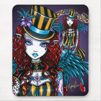 """""""Layla"""" Gothic Fairy Circus Tattoo Sideshow Mouse Pad"""