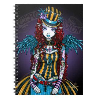 """Layla"" Steampunk Circus Tattoo Sideshow Notebook"
