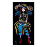 """Layla"" Steampunk Circus Tattoo Sideshow Poster"