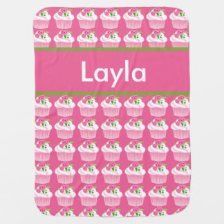 Layla's Personalized Cupcake Blanket