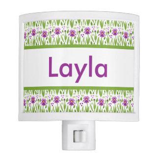 Layla's Personalized Iris  Night Light