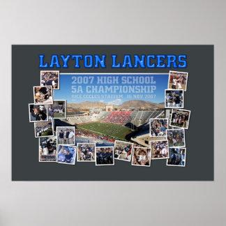 Layton Lancers Football Poster