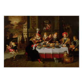 Lazarus and the Rich Man's Table Poster