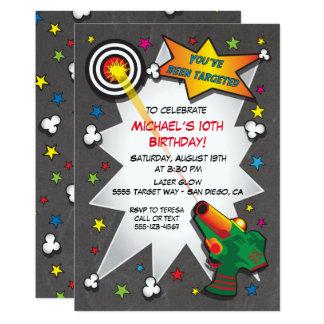 Lazer Tag Birthday Party Invitation