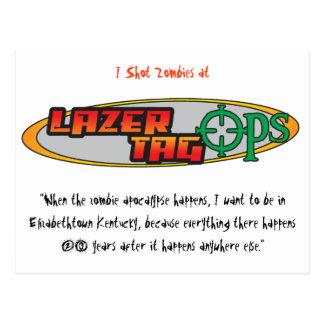 Lazer Tag Ops Postcard