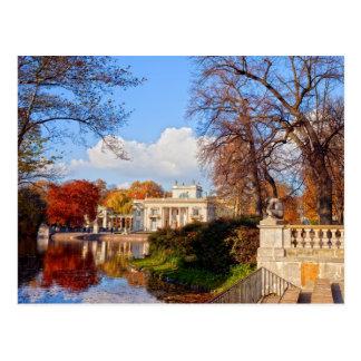 Lazienki Park in Warsaw Postcard