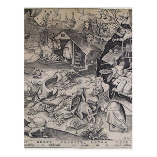Laziness by Pieter Bruegel the Elder Postcard
