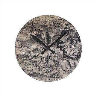 Laziness by Pieter Bruegel the Elder Wall Clocks