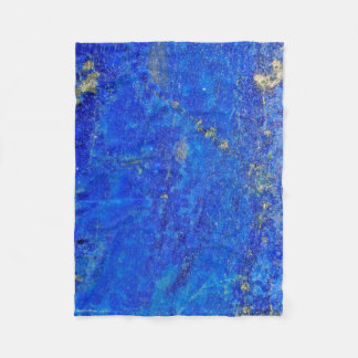 Lazurite Lapis Gemstone Fleece Blanket