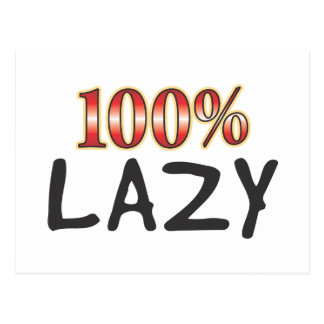 Lazy 100 Percent Postcard