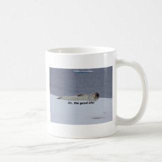 "Lazy Beach Bum Seal: ""Ah, the good life!"" Coffee Mug"