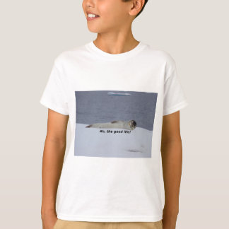 "Lazy Beach Bum Seal: ""Ah, the good life!"" T-Shirt"