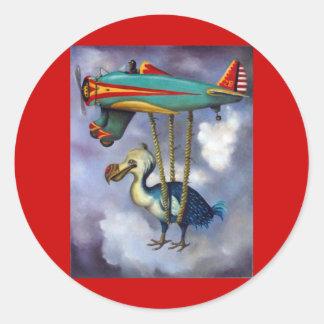 Lazy Bird Round Sticker