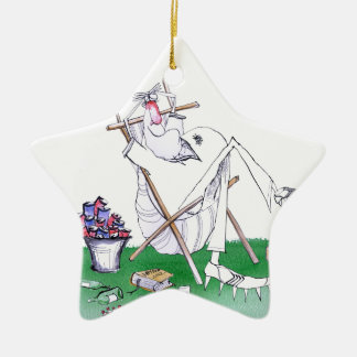 lazy bones - cricket , tony fernandes ceramic star ornament