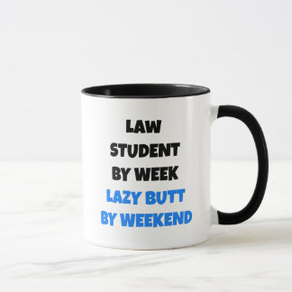 Lazy Butt Law Student Mug