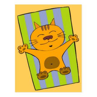 Lazy cat postcard